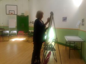 Maggie Havergal with flipchart