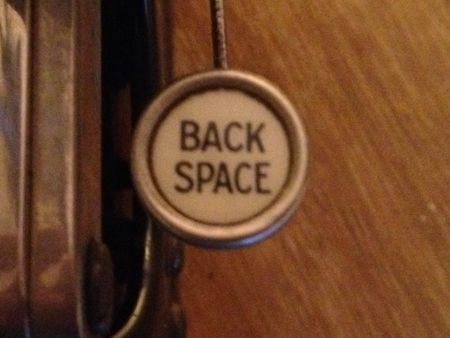 backspace key in sepia colours