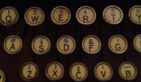 old typewriter qwerty keyboard