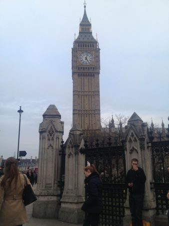 Big Ben and the clock showing 5pm