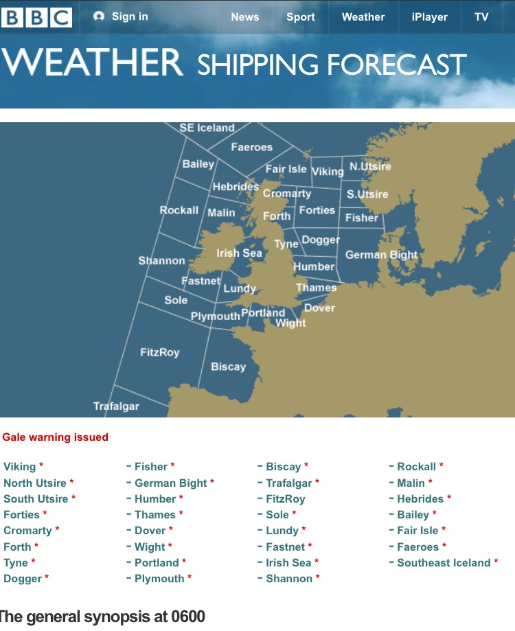 In praise of the shipping forecast: pure poetry – Fay Young