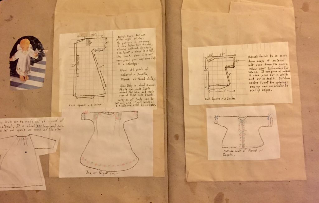 Instructions on how to make a baby gown
